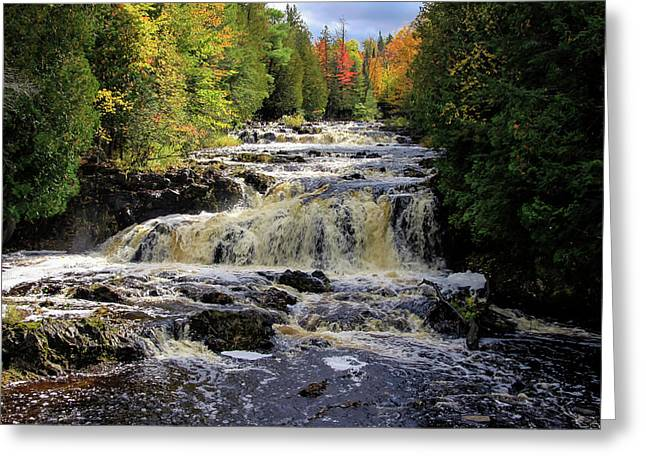 Bad River Cascade Greeting Card