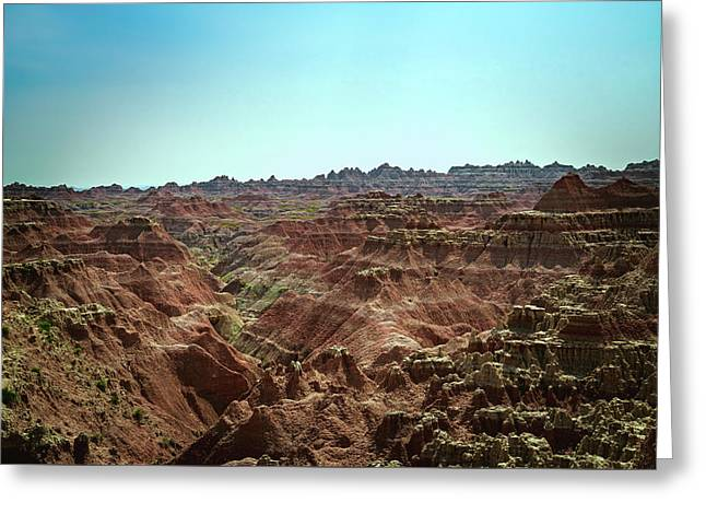 Badlands Landscape Greeting Card