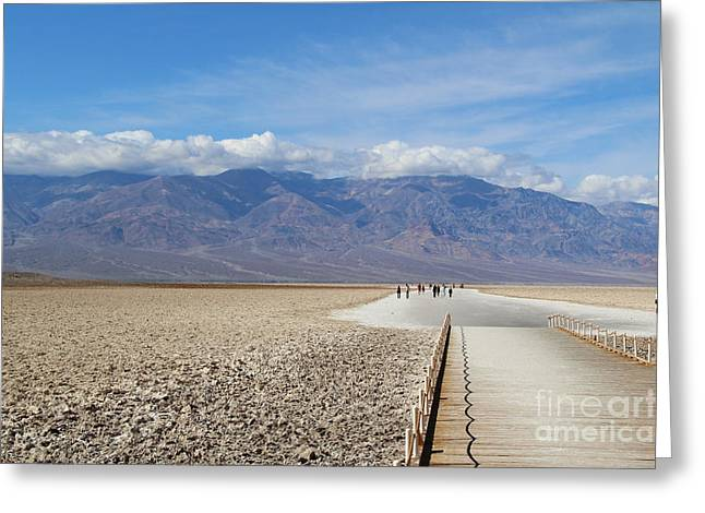 Badwater In Death Valley National Park Greeting Card