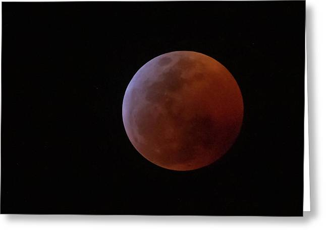 Bahamian Super Blood Wolf Moon Greeting Card