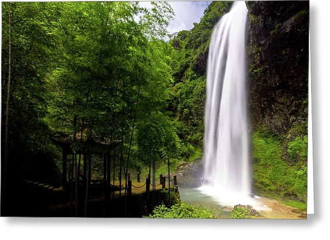 Baiyun Waterfall II Greeting Card