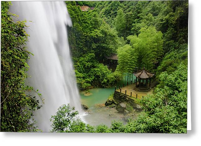 Baiyun Waterfall Greeting Card