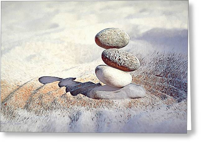 Greeting Card featuring the digital art Balance by Pennie McCracken