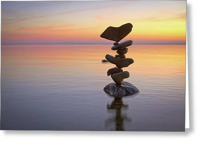 Balancing Art #1 Greeting Card