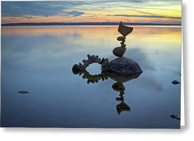 Balancing Art #10 Greeting Card