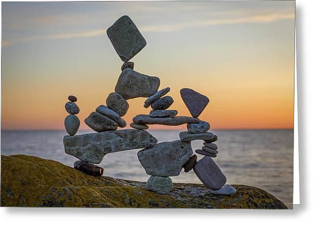 Balancing Art #2 Greeting Card