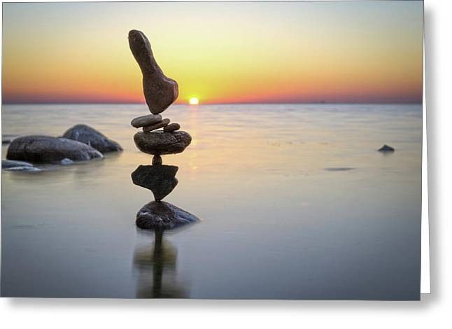 Balancing Art #3 Greeting Card