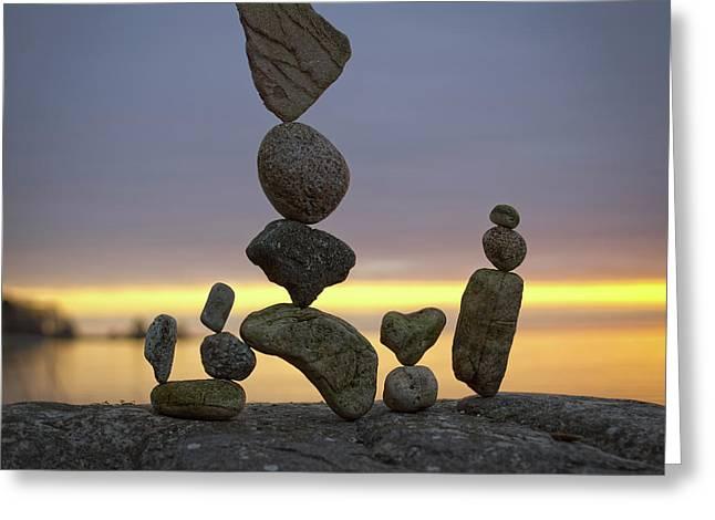 Balancing Art #5 Greeting Card