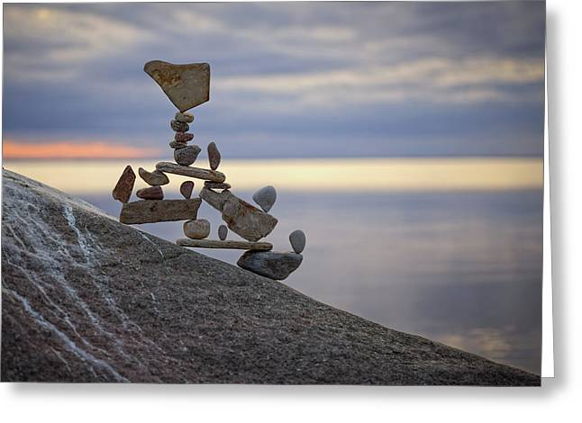 Balancing Art #7 Greeting Card