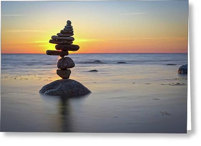 Balancing Art #8 Greeting Card