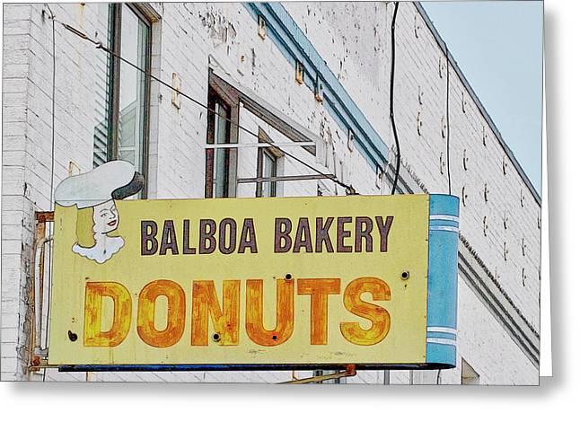 Balboa Bakery Donuts Greeting Card
