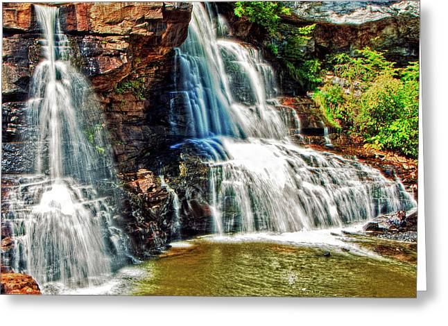 Balckwater Falls - Closeup Greeting Card