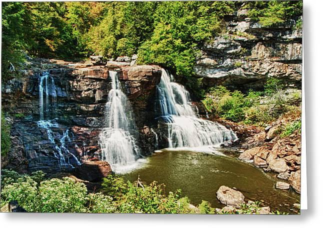 Balckwater Falls - Wide View Greeting Card