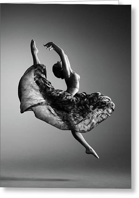 Ballerina Jumping Greeting Card