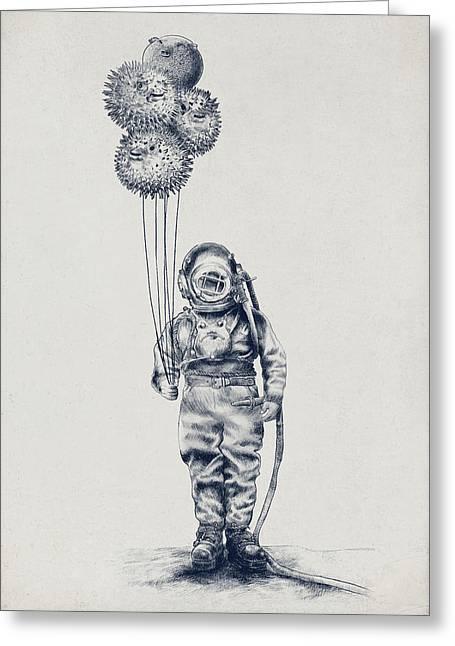 Balloon Fish Option Greeting Card