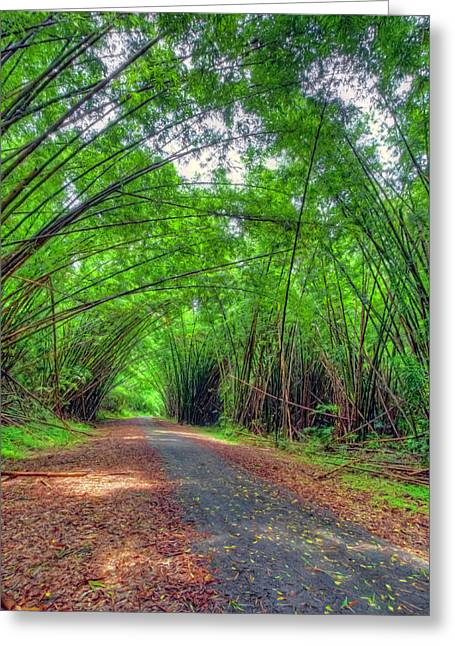 Bamboo Cathedral 2 Greeting Card
