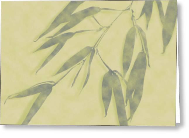 Bamboo Leaves 0580b Greeting Card