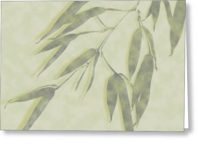 Bamboo Leaves 0580c Greeting Card