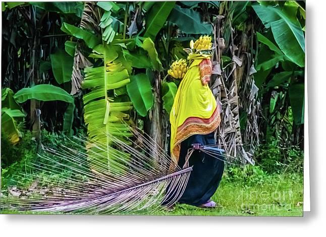 Banana Harvest, Zanzibar, Tanzania Greeting Card
