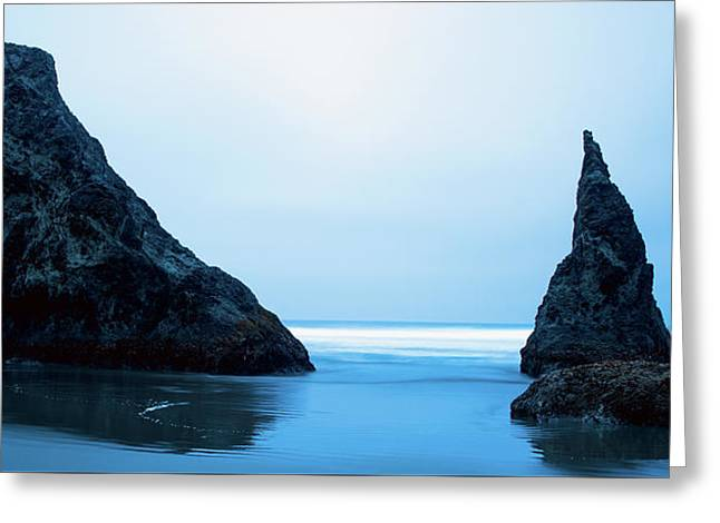 Greeting Card featuring the photograph Bandon Oregon Blue 101918 by Rospotte Photography