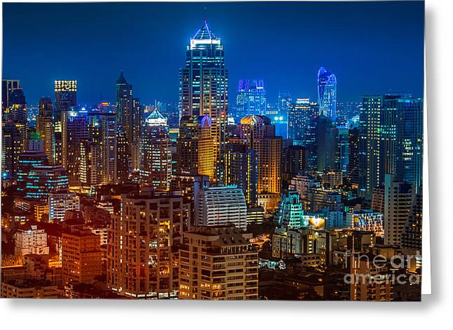 Bangkok Night Greeting Card