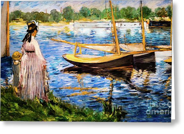 Banks Of The Seine At Argenteuil Greeting Card