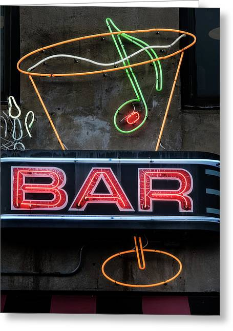 Bar Sign Greeting Card