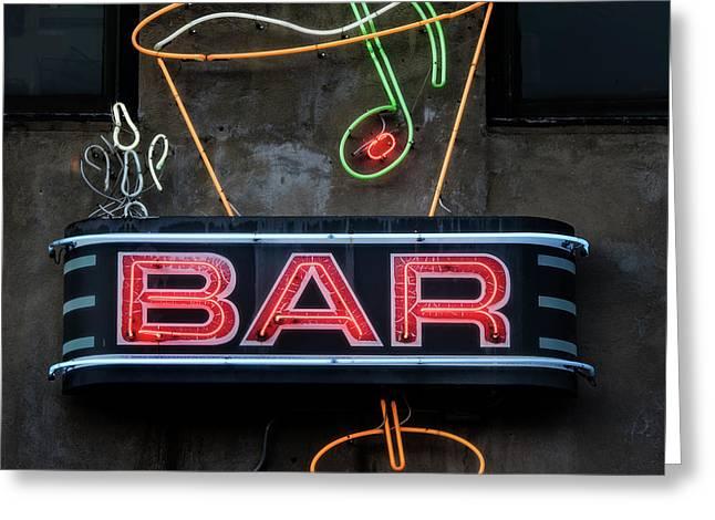 Bar Sign Greeting Card