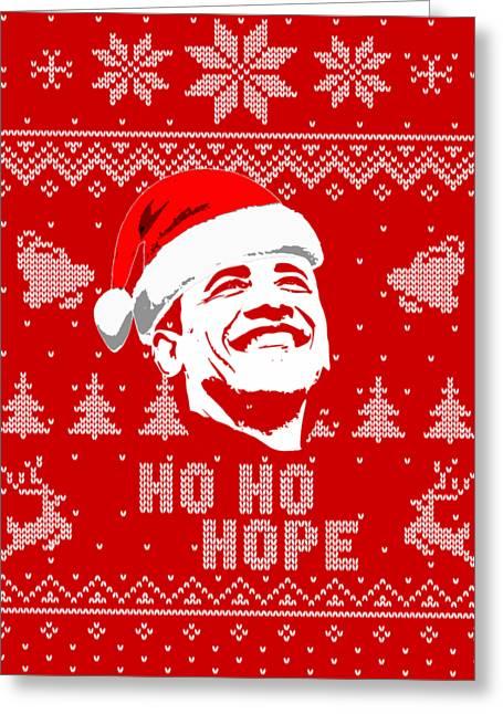 Barack Obama Ho Ho Hope Christmas Greeting Card