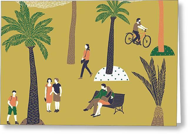 Barcelona Print Design Greeting Card