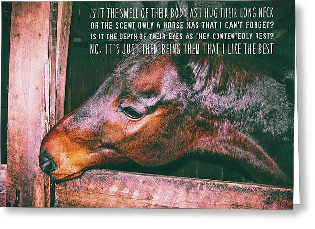 Greeting Card featuring the photograph Barn Bay Quote by JAMART Photography