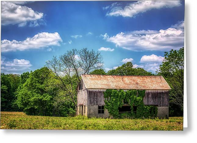 Barn With Ivy Greeting Card