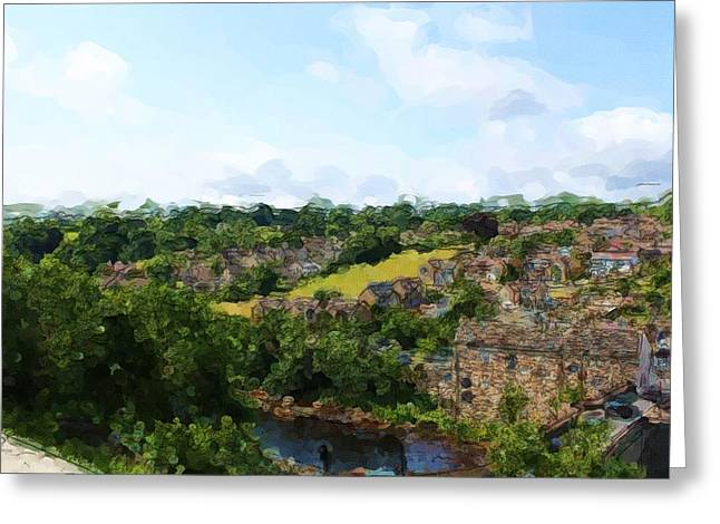 Barnard Castle View Greeting Card