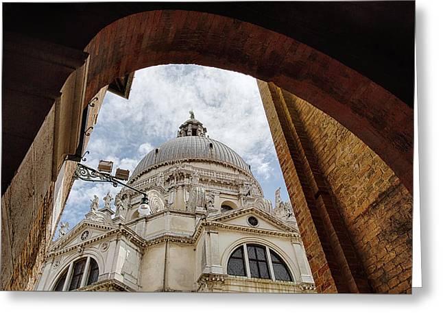 Basilica Di Santa Maria Della Salute Venice Italy Greeting Card