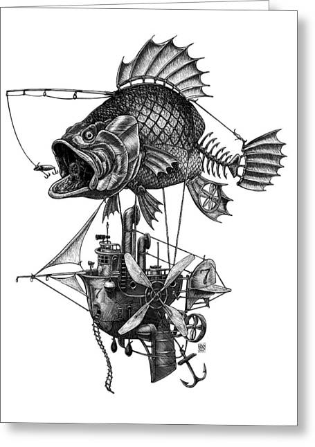 Bass Airship Greeting Card