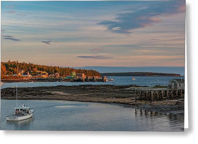 Greeting Card featuring the photograph Bass Harbor Sunset by Rick Hartigan