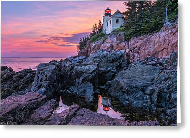 Bass Head Lighthouse - Acadia Greeting Card
