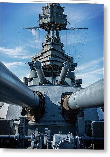 Battleship Big Guns  Greeting Card