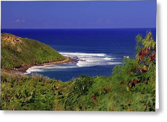 Greeting Card featuring the photograph Bay In St Kitts by Tony Murtagh