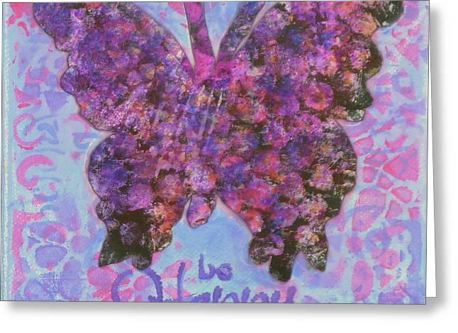 Be Happy 2 Butterfly Greeting Card