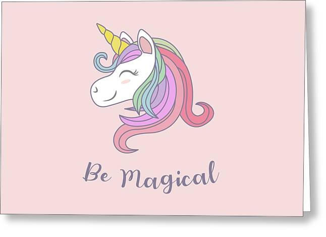 Be Magical - Baby Room Nursery Art Poster Print Greeting Card