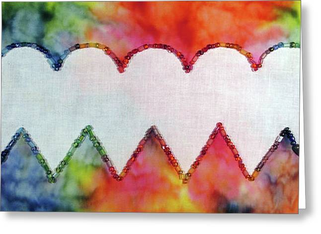 Be Still My Beaded Hearts Greeting Card