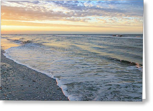 Beach At Dawn, Sanibel Island, Florida Greeting Card
