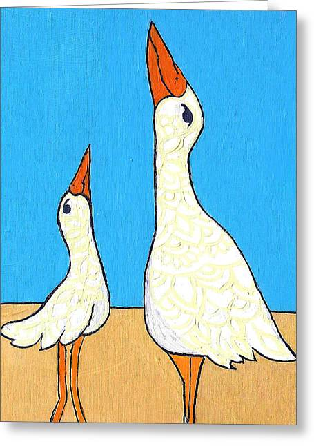 Beach Birds  Greeting Card