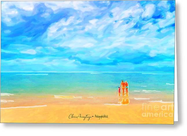Beach Blues II Greeting Card