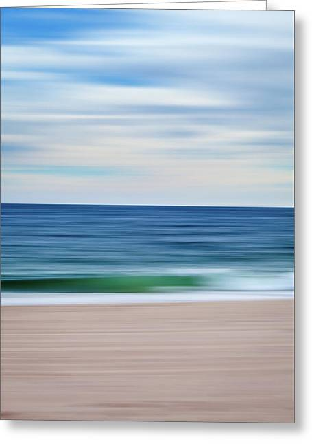Beach Blur Greeting Card