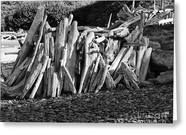 Greeting Card featuring the photograph Beach Fort 2 by Jeni Gray