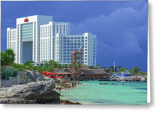 Beach Life In Cancun Greeting Card