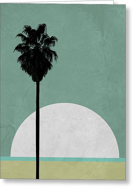 Beach Palm Tree Greeting Card