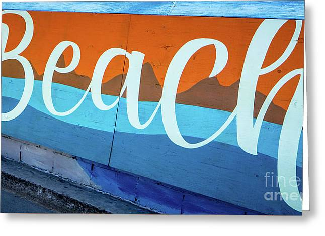 Beach Sign Mission To Pacific Boardwalk Greeting Card
